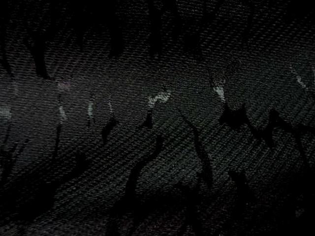 Polyester coton noir aureoles satinees