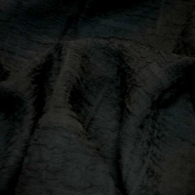 Polyester et resille noir encolles motif craquele 1