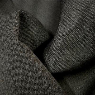 Polyester fin chevron gris taupe 1