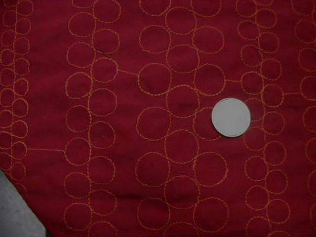 Polyester satine couture bulle brodee orange 2