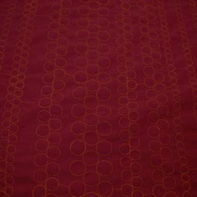 Polyester satine couture bulle brodee orange 3