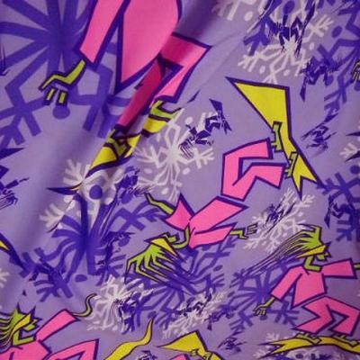 Polyester satine surfer tag mauve violet 2