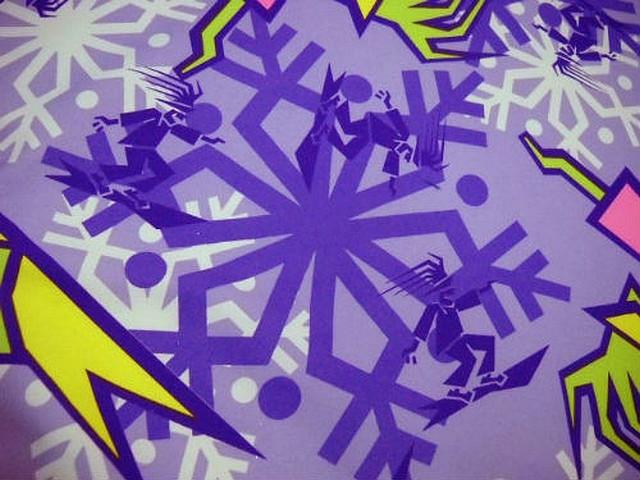Polyester satine surfer tag mauve violet 3