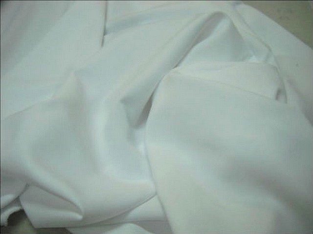 Polyester stretch blanc pur 1