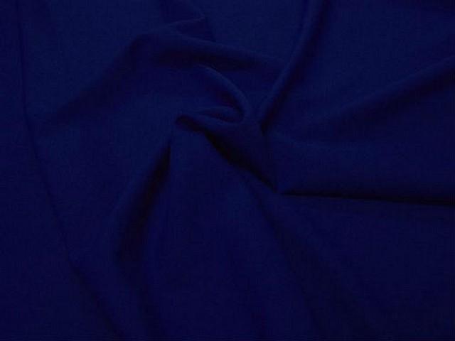 Polyester stretch bleu outremer