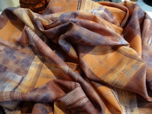 Polyester vintage orange 1