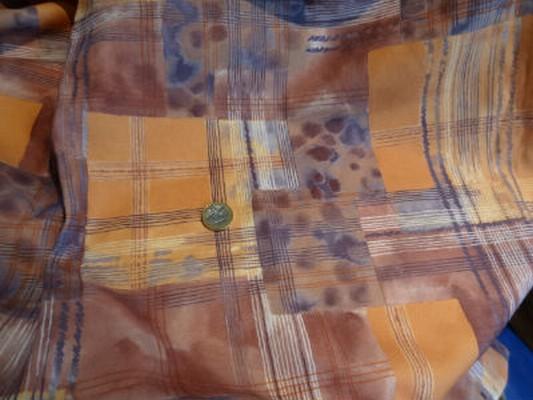 Polyester vintage orange 2