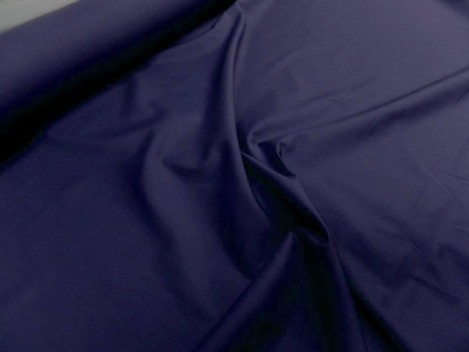 Popeline coton bleu marine