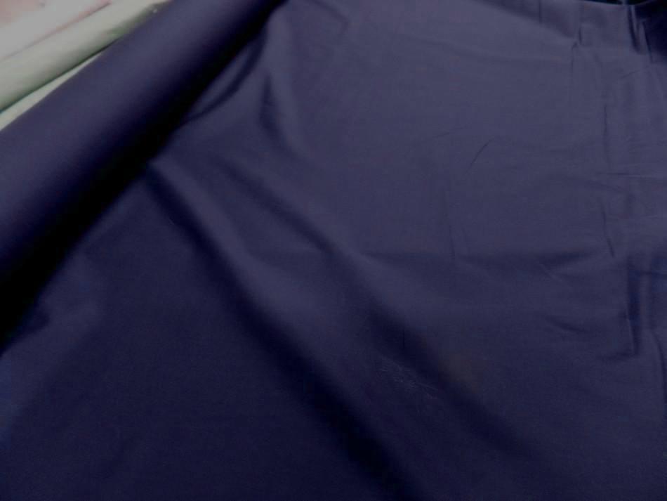 Popeline coton bleu marine00