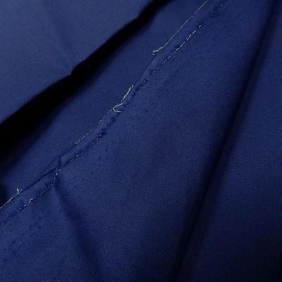 Popeline coton bleue marine