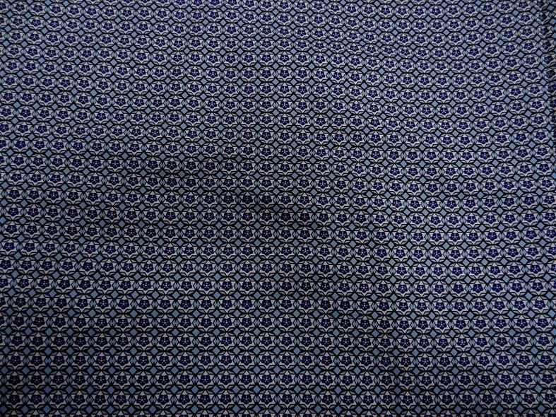 Popeline coton extensible petit motif rosace annee 50 1