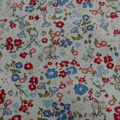 Popeline coton fond blanc fleurettes ninon 3