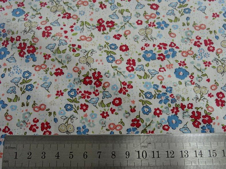 Popeline coton fond blanc fleurettes ninon 4