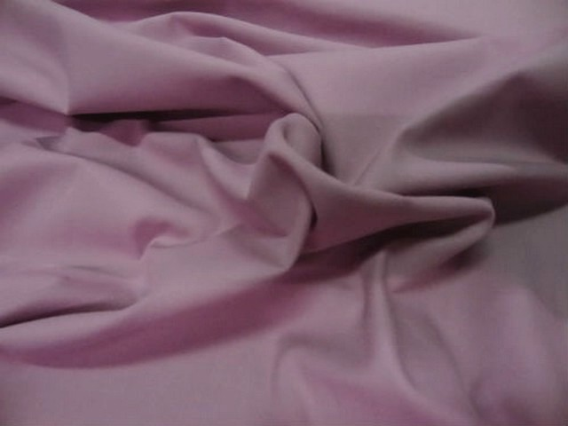 Popeline coton lycra rose violace clair 1