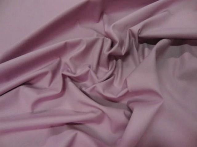 Popeline coton lycra rose violace clair 2