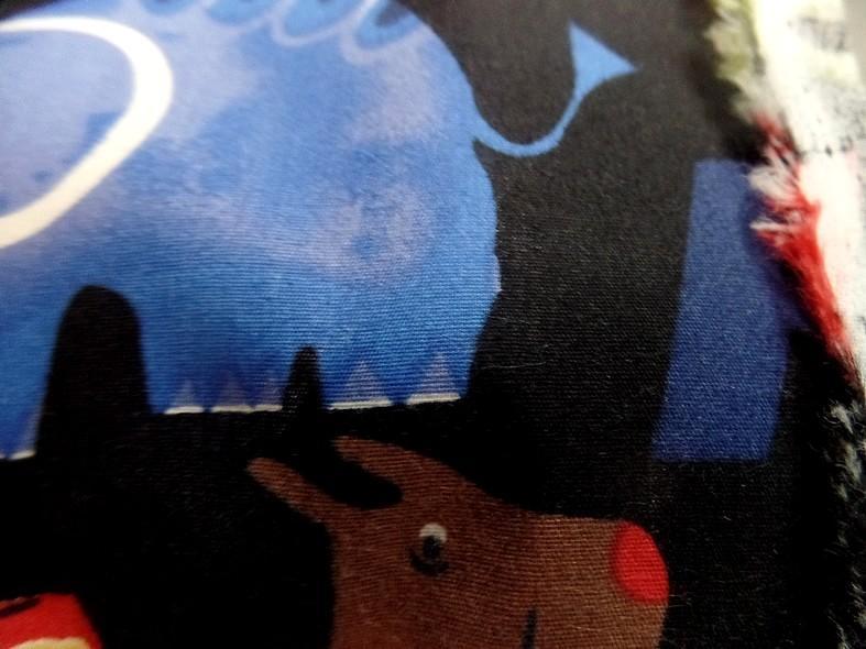 Popeline coton noir motifs animaux 2