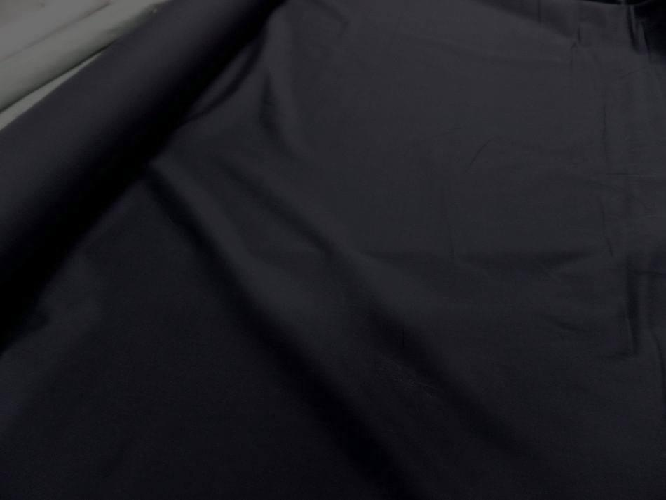 Popeline coton noire00