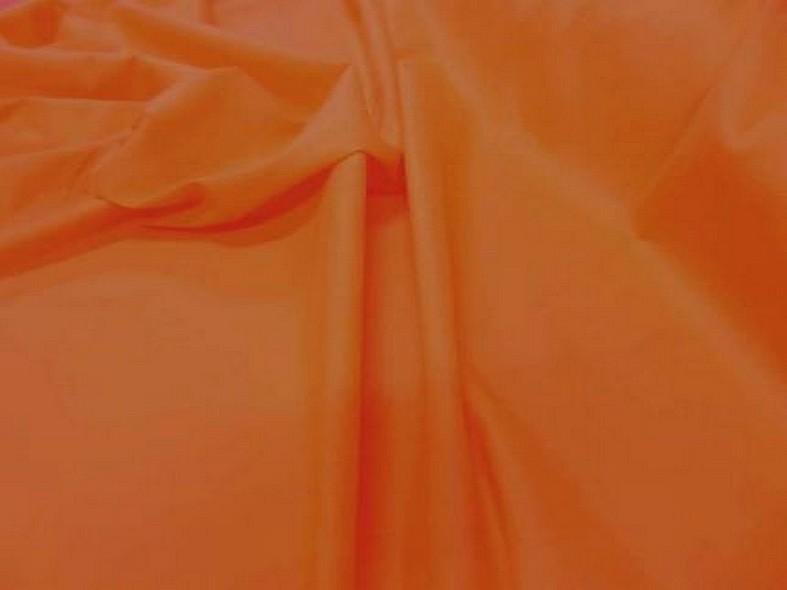 Popeline coton orange 2