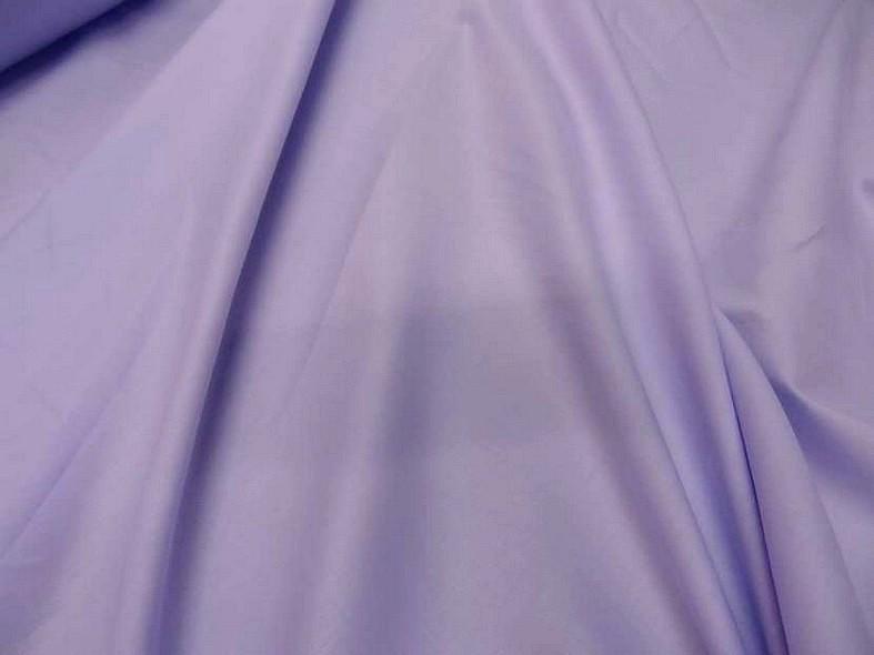 Popeline coton teinte lilas 1