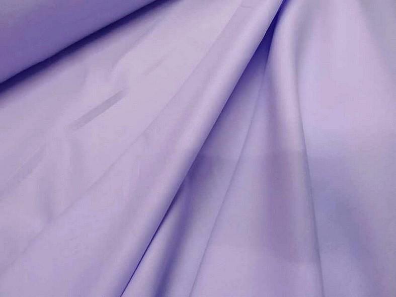 Popeline coton teinte lilas 2