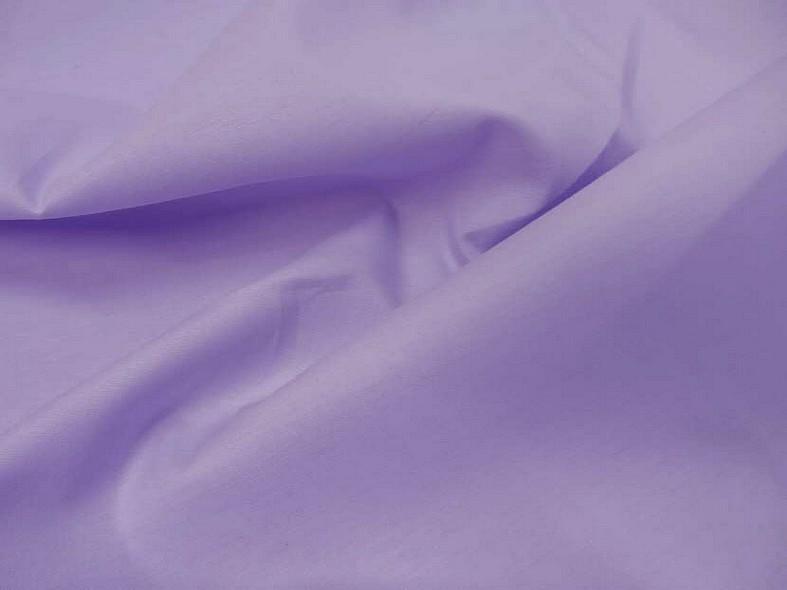 Popeline coton teinte lilas