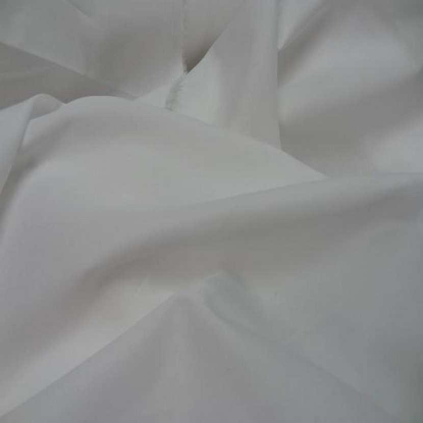 Popeline coton uni ton blanc4