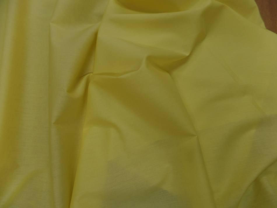 Popeline coton uni ton jaune