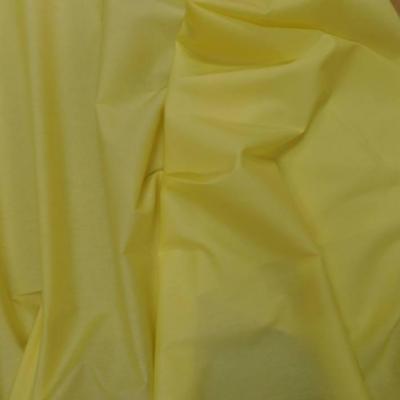 Popeline coton uni ton jaune0