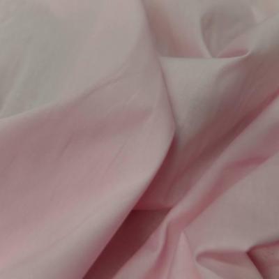 Popeline coton uni ton rose clair