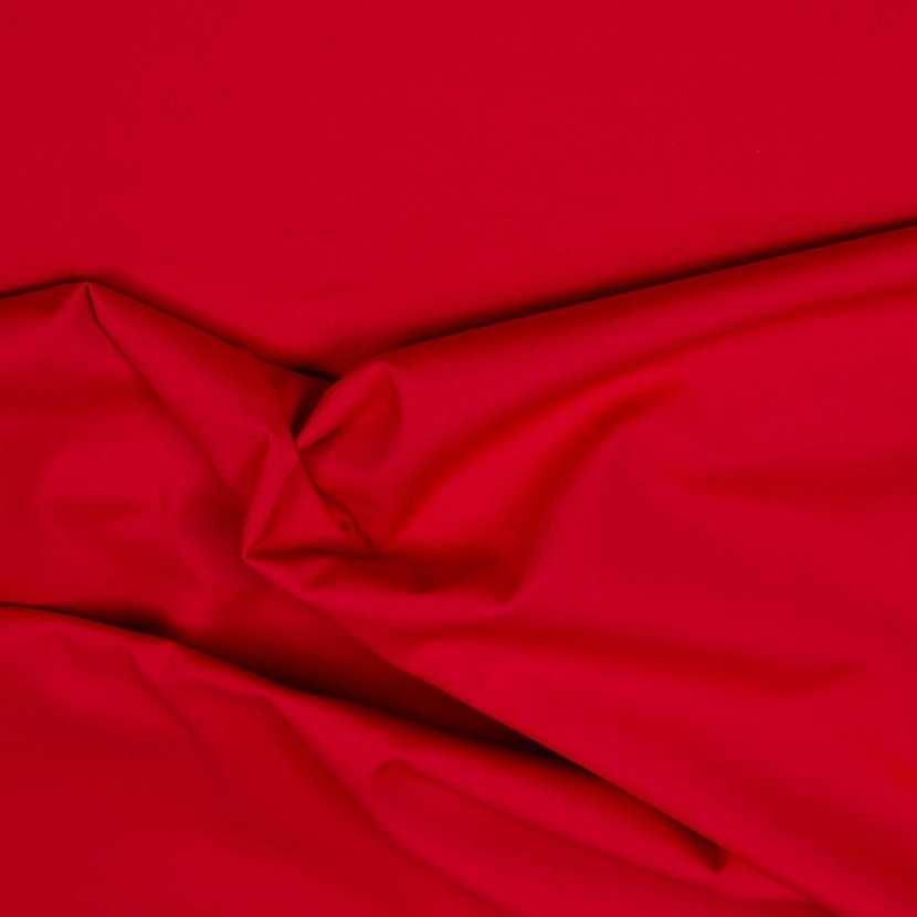 Popeline coton uni ton rouge