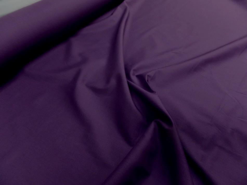 Popeline coton uni ton violet0