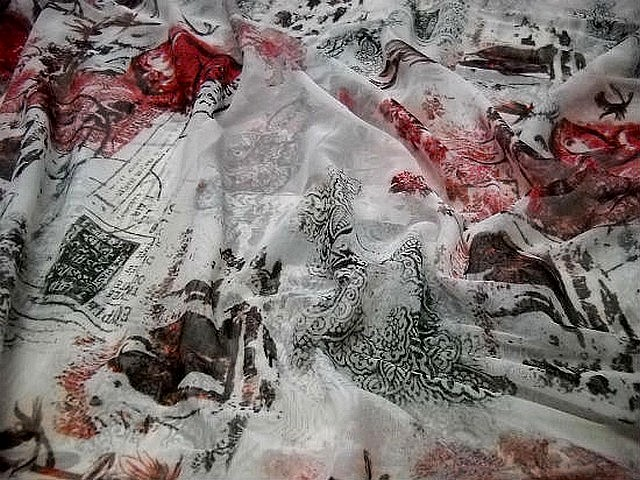 Resille alexandrie rouge blanc noir 4