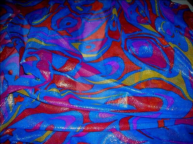 Resille bleu roi lurex motifs modernes 2