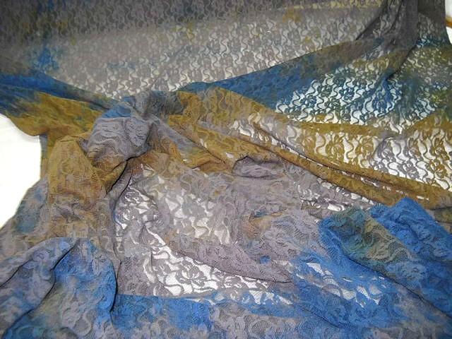 Resille dentelle chatain bleu ocre 2
