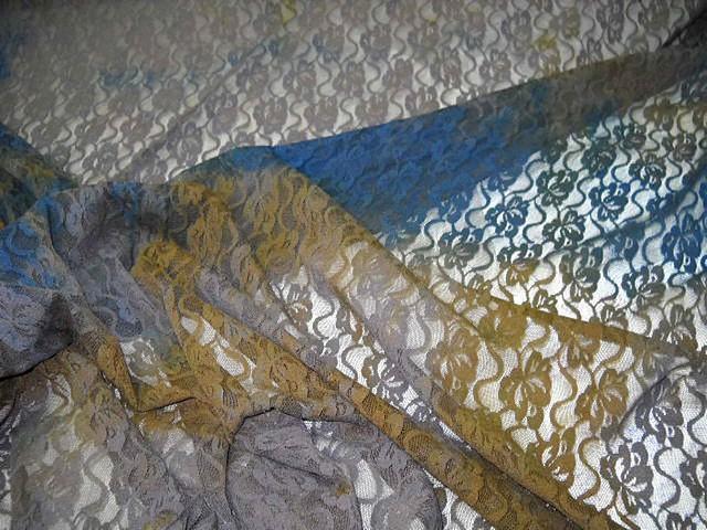 Resille dentelle chatain bleu ocre 3