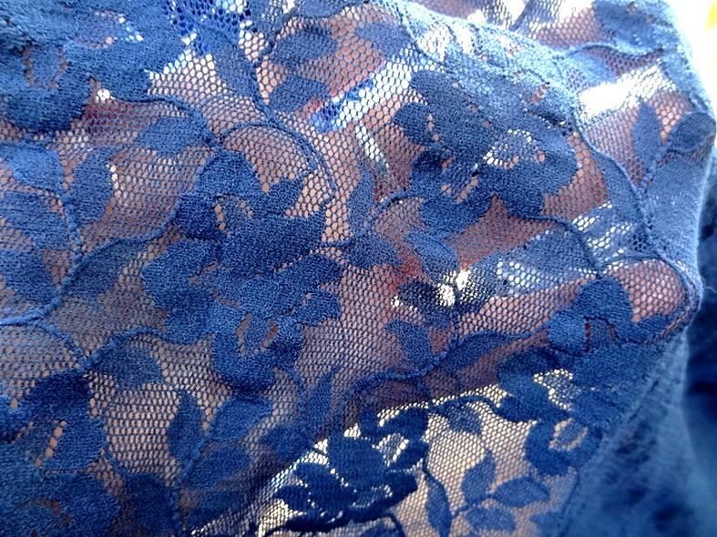 Resille dentelle lycra bleu fonce 2