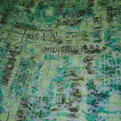 Resille dentelle lycra vert motifs slogans 1