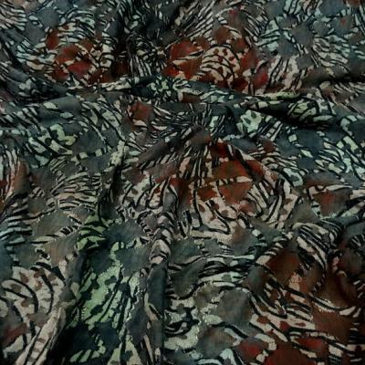 Resille dentelle teinte d automne vert lichen et roux 1