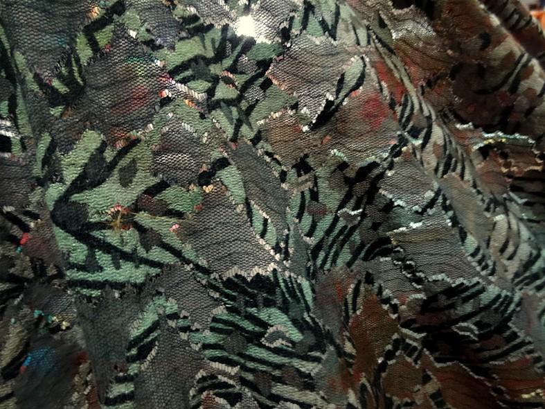 Resille dentelle teinte d automne vert lichen et roux 2