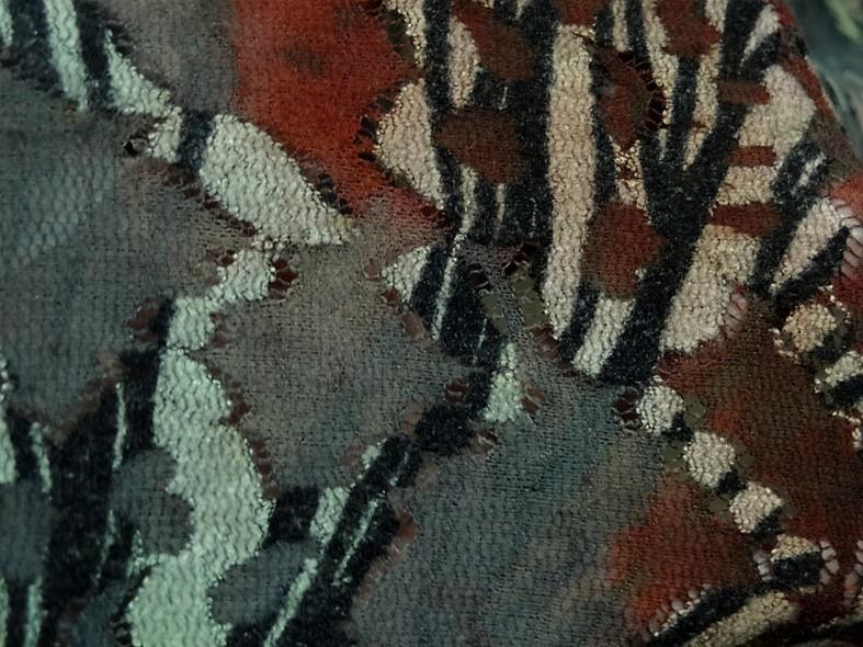 Resille dentelle teinte d automne vert lichen et roux 4
