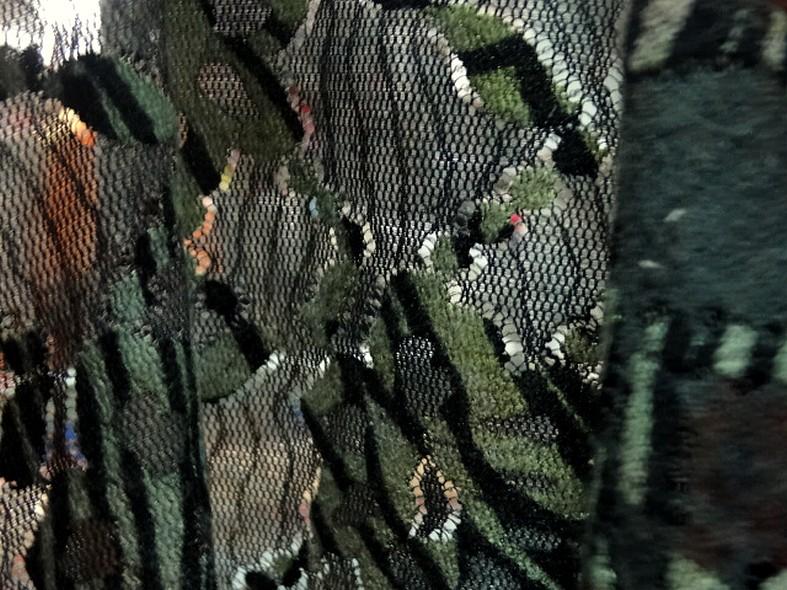 Resille dentelle teinte d automne vert lichen et roux 5
