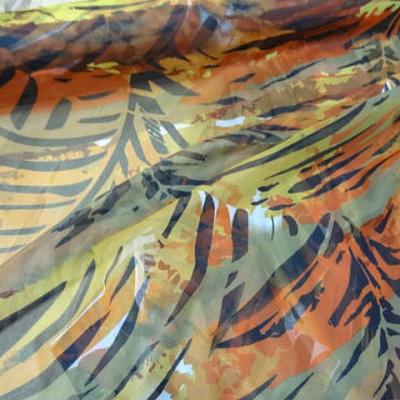 Resille feuillage teintes lichen safran ocre 1