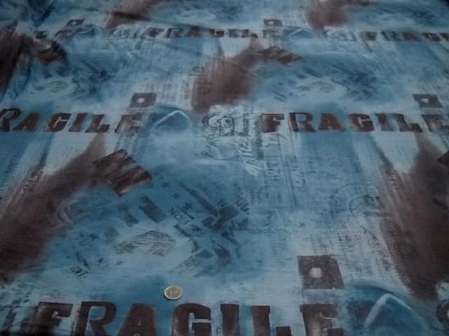 Resille fragile bleu et marron