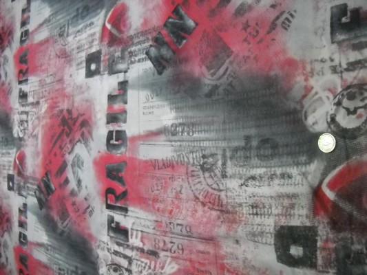 Résille lycra imprimé gris-rose-noir 2