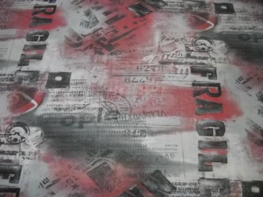 Résille lycra imprimé gris-rose-noir 3