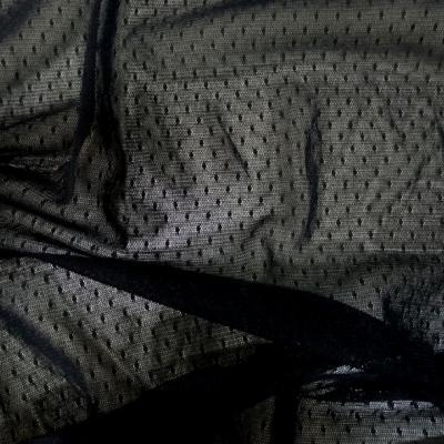 Resille lycra noire a plumetis 1