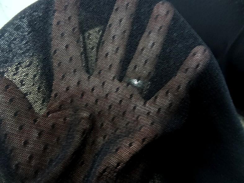Resille lycra noire a plumetis 4