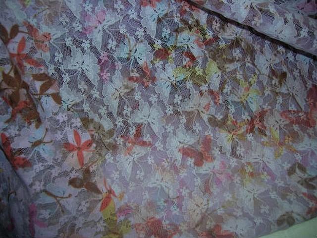 Resille lycra rose pale imprime motif papillon 1