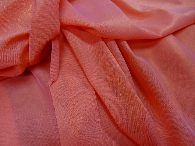 Resille lycra rose the reflets lurex dore