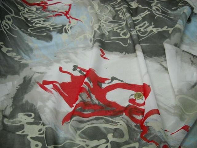Resille lycra signatures gris et rouge 2